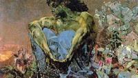Демон сидящий (М.А. Врубель, 1890 г.)