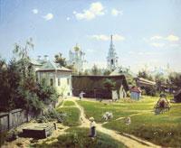 Московский дворик (В.Д. Поленов)