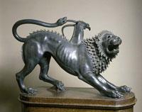 Химера из Ареццо (Этрусская скульптура из бронзы, Флоренция, Италия)