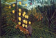 В тропическом лесу. Битва тигра и быка (А. Руссо)