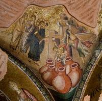 Брак в Кане Галилейской (мозаика, Константинополь)
