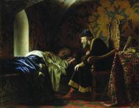Иван Грозный любуется Василисой Мелентьевой