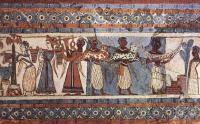 Древнеегипетская фреска «Сбор винограда»