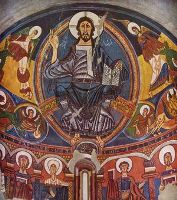 Христос во славе, фреска апсиды в церкви Сан Клементе