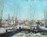 Весна в Троицкой лавре (К.Ф. Юон, 1911 г.)