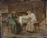 Картина Святой Серафим Саровский и Александр I