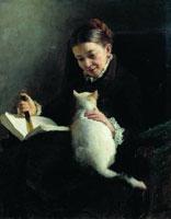 Дама с кошкой (Н.А. Ярошенко)