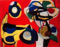 Цветы и животные (К. Аппел, 1951 г.)